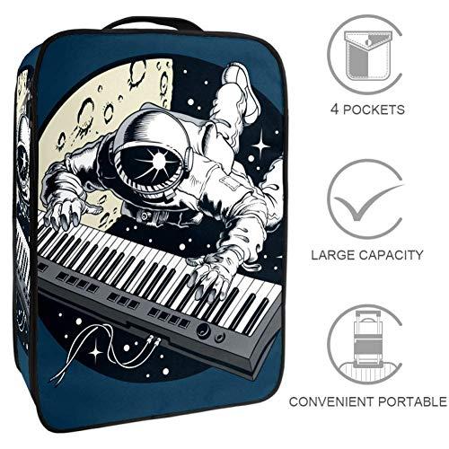 TIZORAX Astronaut Spielende Klavier Reise Aufbewahrungstasche Schuhtasche Aufbewahrungstasche Multifunktionale tragbare Aufbewahrung Schuhbox Schuhtasche