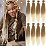 8 Packs Pre-Stretched Braiding Hair 26 Inches Braids Professional Synthetic Hair for Crochet Twist (26', T27 and 613 Color)