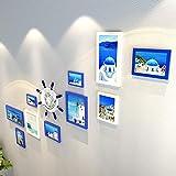 WTT Collage Marcos Set de 10 marcos Set de fotos en paquete múltiple Kit para galería de pared para sala de comedor y salón