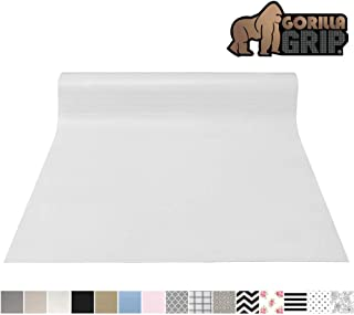 Gorilla Grip Original Smooth Top Slip-Resistant Drawer and Shelf Liner, Non Adhesive Roll, 17.5 Inch x 20 FT, Durable Kitchen Cabinet Shelves Liners for Kitchens Drawers and Desks, White