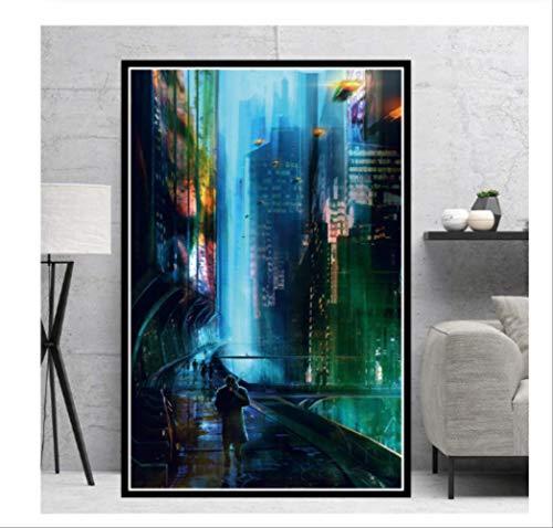 "DPFRY Cuadro En Lienzo Poster Print Blade Runner 2049"" Película Película Regalo Moderno Comic Canvas Art Imagen En La Pared Sala De Estar Decoración del Hogar At39V 40X60Cm Sin Marco"