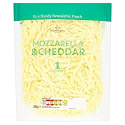 Morrisons Mozzarella & Cheddar Grated Mix, 250g