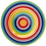 Plato llano de cerámica Windhorse con diseño de arcoíris, 26cm de diámetro (grande)