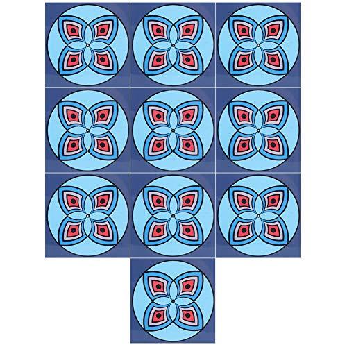 qing niao Pegatinas de Pared Pegatinas de Azulejos Pegatinas de Pared Impermeables Pegatinas de Pared Autoadhesivas 10 Pegatinas de Azulejos Impermeables Decoración de Pared Autoadhesiva