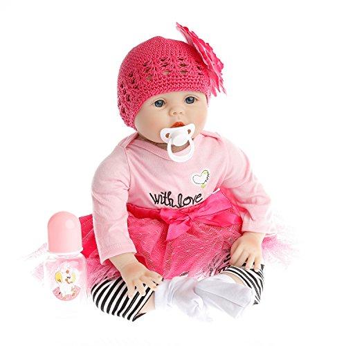 Fachel reborn baby doll realistische baby dolls vinyl silikon babys 22inch 55cm puppe neugeborenes baby doll wie wiedergeboren schnuller - puppe