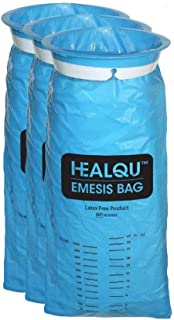 Blue Emesis Bags, Disposable Vomit Bags, 1000ml (24 Pack)