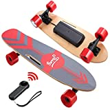 DEVO Electric Skateboard with Wireless Remote, Electric Skateboard for Adult and Teens, 12 MPH Top Speed Electric Longboard, 350W Motor E-Skateboard, 10 Miles Range, Load up to 220lbs, 7 Layers Maple