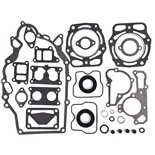 Complete Engine Rebuild Gasket Kit w/Rings Replacement for Gas Mule KAF620 Set Oil Seals
