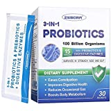 Probiotics-for-Women 100-Billion-CFU Prebiotics-and-Probiotics Powder for Men, Kids, Acidophilus Probiotic, 3-in-1 Formulated Shelf Stable Digestive Enzymes