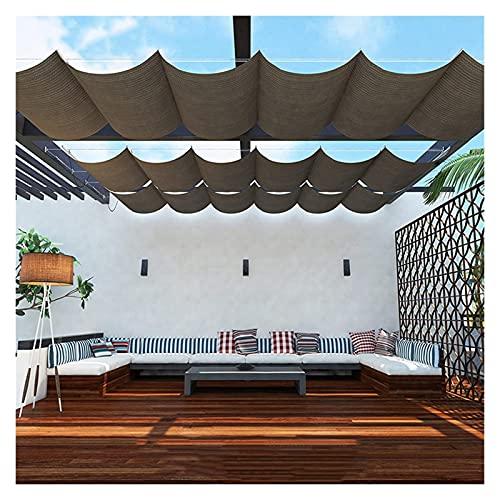 XJJUN Cubierta De Sombra Extensible, Control De Luz Solar Y Sombras Tela Transpirable, Refrigeración para Terrazas, Cubiertas, Pabellones Al Aire Libre (Color : Brown, Size : 0.6x2m)