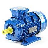OUKANING 1.5 KW 380 V 1500 RPM Motor asincrónico Diámetro de 3 Fases Motor eléctrico de 24 mm