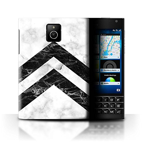 Stuff4 custodia/cover/Skin/BB CC/Marble Pattern geometrici Collection Monochrome Chevrons BlackBerry Passport