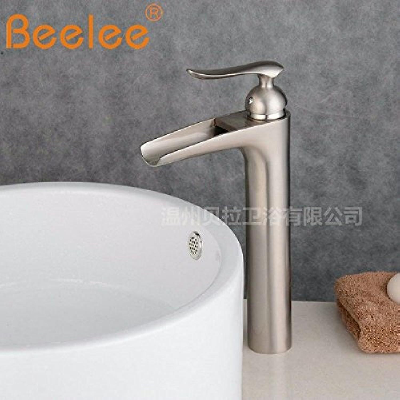 Waschtischarmatur Wasserhahn Mit Herausziehbarer Dual-Spülbrause Wasserhahn Kupfer Wasserfall Schwarzbronze Heies Und Kaltes Wasser Mit Einhand-Einlochmischung über Dem Beckenhahn