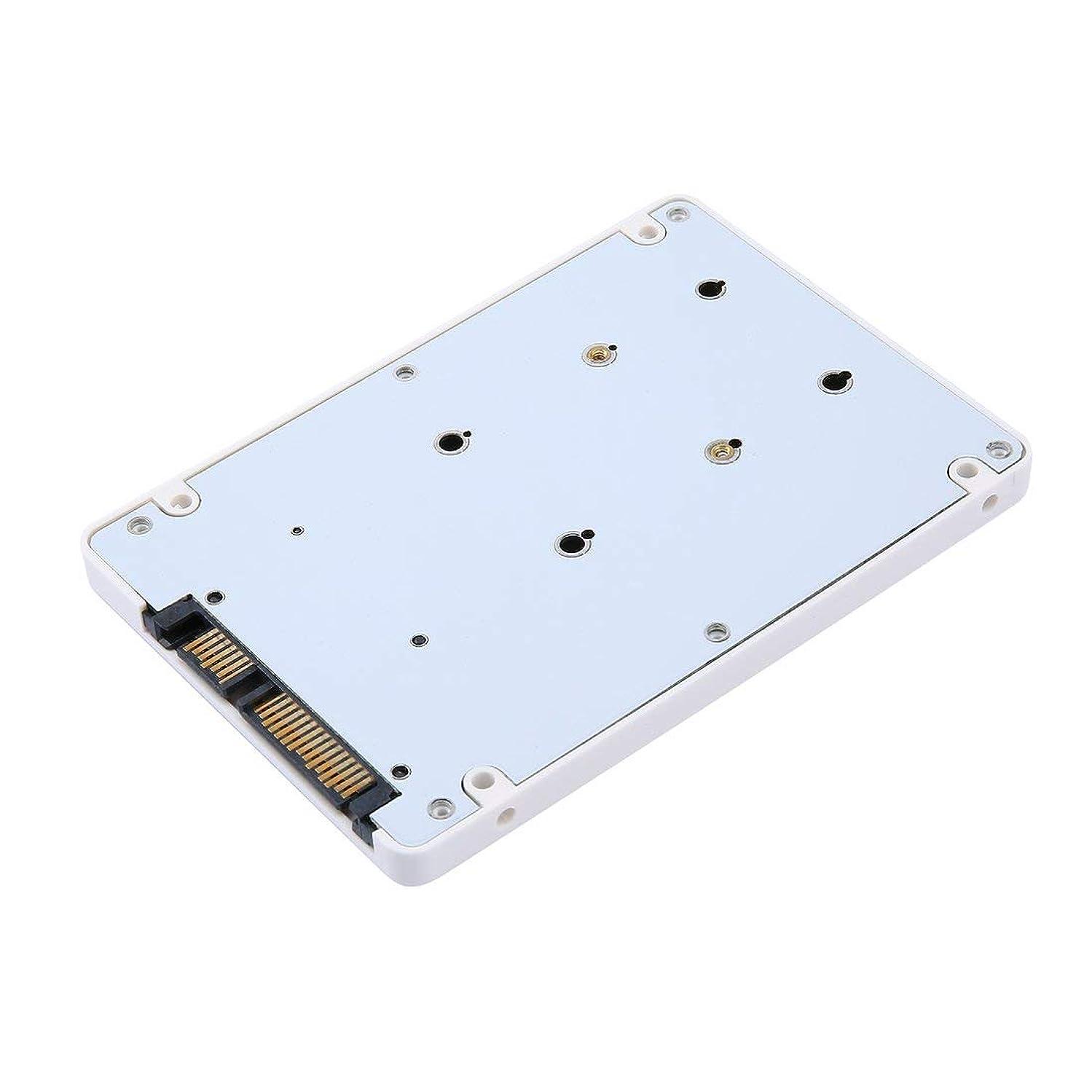 緊急配列褐色ポータブル ミニ HDD 効率的 高速 ミニ 2.5インチ MSATA SSD - 22 ピン SATA SSD アダプターボックス 外付け HDD モバイルボックス - ホワイト