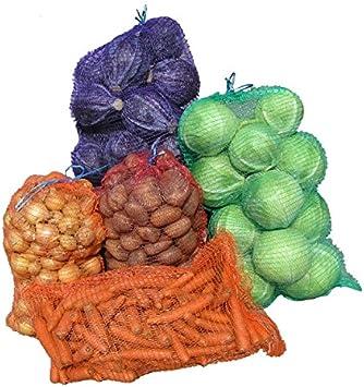 60 x Net Woven Sacks Vegetables Logs Kindling Wood Log Mesh Bags 50x80 cm 40 kg
