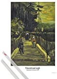1art1 Vincent Van Gogh Poster (91x61 cm) Kleiner Weg Am