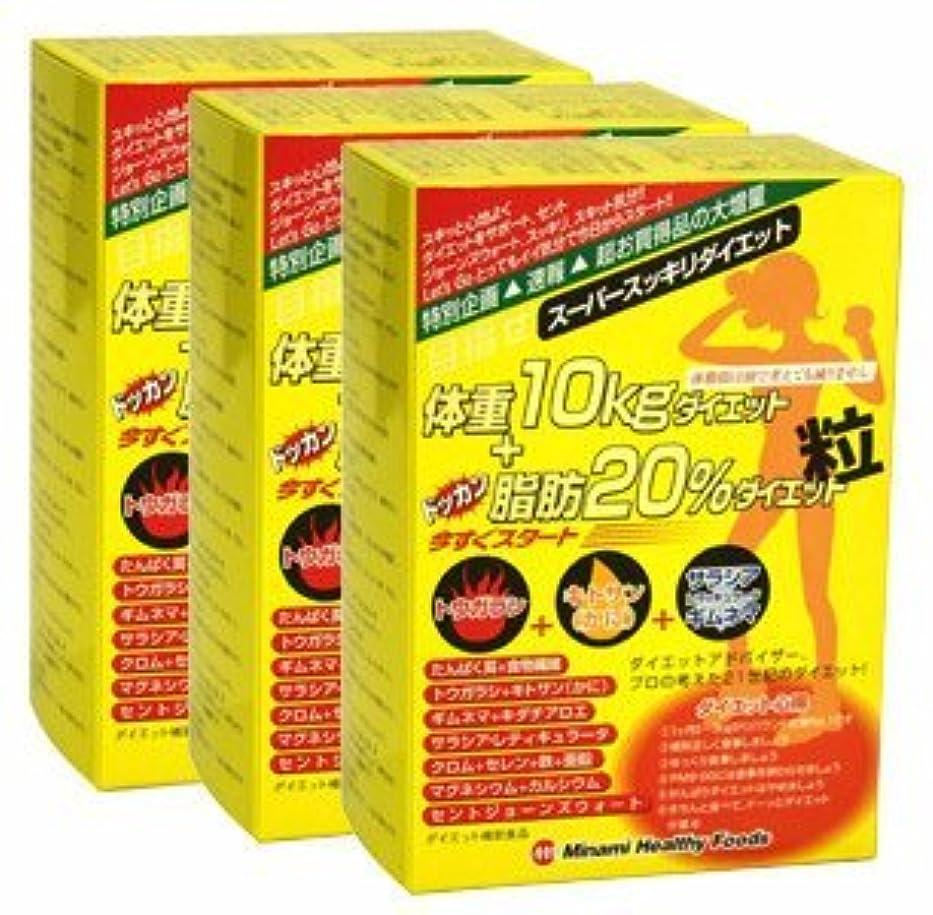 兵士流行している嵐の目指せ体重10kg+ドッカン脂肪20%ダイエット粒【3箱セット】ミナミヘルシーフーズ