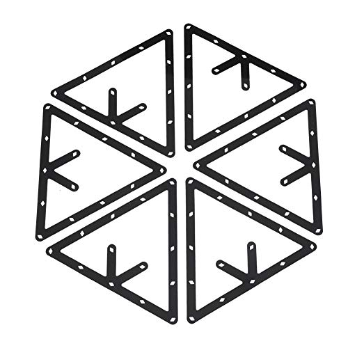 Zetiling Magic Rack Sheet, Billardtisch Triangle Ball Holder Geeignet für 8, 9, 10 Ball Billardtisch Pool Queue Zubehör