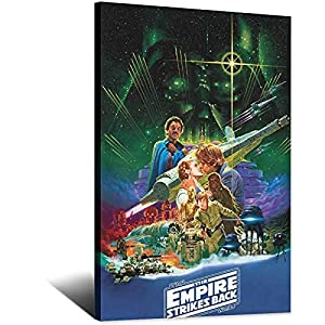 Movie Poster Noriyoshi Ohrai Empire Strikes Back Canvas Art Poster Picture Modern Office Family Bedroom Decorative…