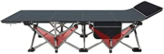 Image of Outdoor Foldable Single Bed, Sturdy and Stable Alloy Steel Camp Bed Portable Folding Bed, Suitable for Office Lunch Break, Camping Trip Hunting and Backpacking,Free Installation