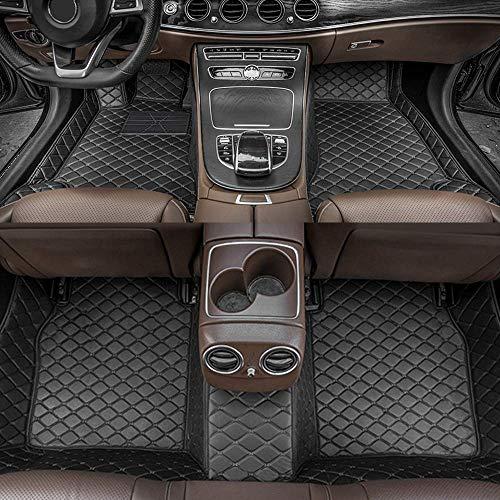 Alfombrillas de Coche para Mercedes Benz A45 AMG 2013-2017 Antideslizantes Impermeable Rodeado Completo Protección para Todo Clima Revestimientos De Alfombra De Cuero Alfombrilla (Negro)