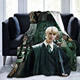 EAROBA Draco-Malfoy Blanket Warm Plush Cozy Soft Blankets for Chair/Bed/Couch/Sofa 50'x40'