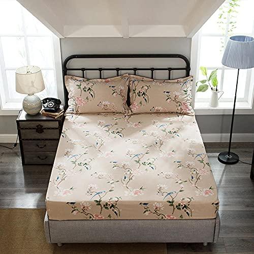 HPPSLT Protector de cama con borde ajustable, microfibra, 100 % poliéster, grueso y pulido de algodón puro, 23 x 180 x 200 cm