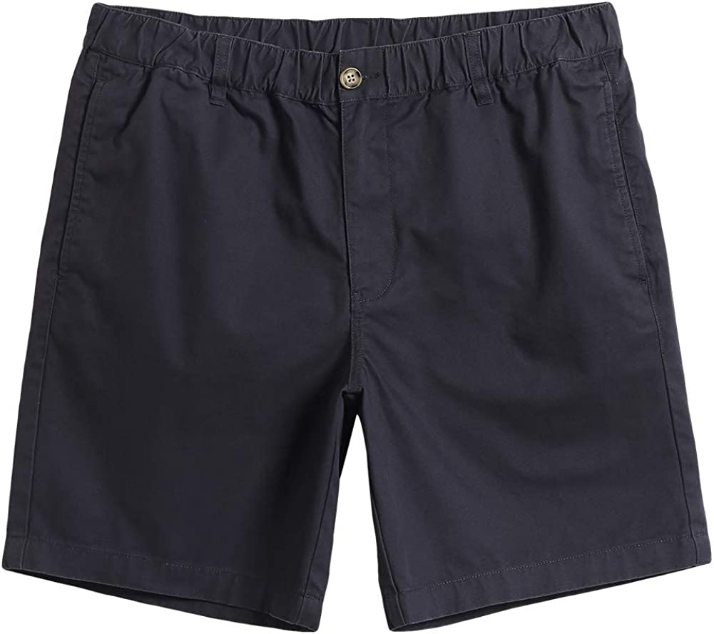 MaaMgic Mens Classic-fit 7 Stretch Cotton Casual Shorts with Elastic Waistband Multi-Pocket Hybrid Walk Short