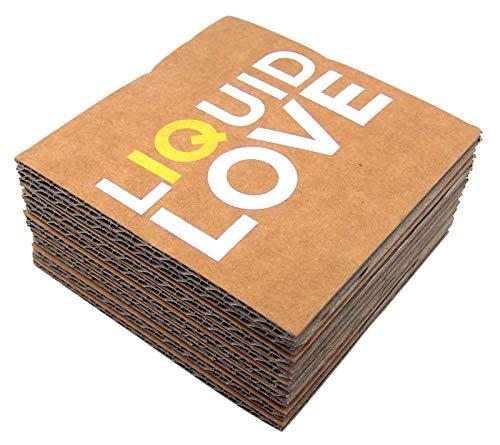 Liquid Love Pappuntersetzer, 10,2 cm, 8 Stück