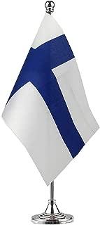 GentleGirl.USA Finland Flag Finnish Flag Table Flag,Desk Flag,Office Flag,International World Country Flags Banners,Festival Events Celebration,Office Decoration,Desk,Home Decoration