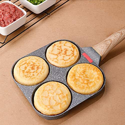 4 Tasses à Crêpes Omelette Antiadhésive,pour cuiseur à œufs rond, omelette burger, crêpes, cuisinière à gaz et plaque à induction Compatible petit déjeuner maison