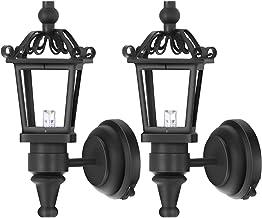 TOYANDONA 2 Stuks Halloween Led Lantaarn Lamp Simulatie Spookhuis Lamp Muur Gemonteerde Lamp Mini Tafel Decoratie Poppenhu...