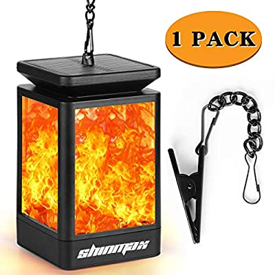 Solar Lanterns Hanging Light Outdoor?Anginstar Solar Light Auto Solar Powered&Waterproof Dancing Flickering Flame Lights for Garden,Patio,Lawn,Yard,Path,Tree Decor