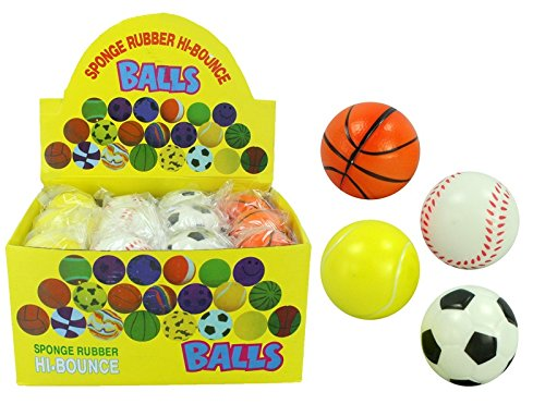 12 x STRESSBALL Ball Fußball / Tennisball / Basketball / Baseball Gummi 6 cm Wurf Mini by schenkfix