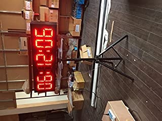 BESTLED Single Sided Red Color LED Race Timing Clock Countdown/up Timer with Tirpod 8