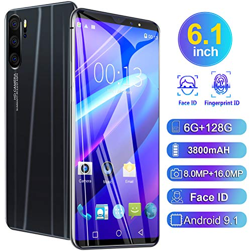 Teléfono Móvil P41 Android Teléfono Desbloqueado SIM Gratis teléfonos Dual SIM 6,1 Pulgadas teléfono batería de 4080mAh y 8MP + 16MP Dual cámaras Android 9,1 GPS FM