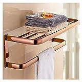 Toalleros De Barra Cuarto de baño de oro rosa montado en la pared toallero...