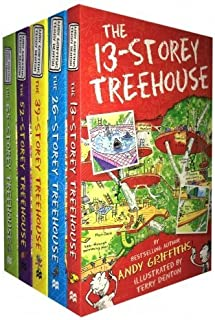 Treehouse Books Collection Andy Griffiths 5 Books Set (The 65-Storey, The 52-Storey, The 39-Storey, The 13-Storey, The 26-Storey)