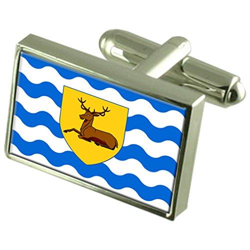 Hertfordshire County England Flagge Manschettenknöpfe graviert Box