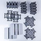 YOUX City - Juego de 182 piezas de extensión compatible con rieles Lego
