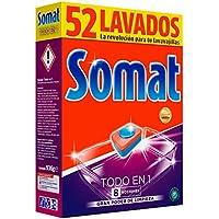 Somat Todo En 1 Pastillas Detergente para Lavavajillas 8 Funciones - 52 Dosis