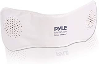 Pyle PPSP18 Bluetooth Pillow Speaker, Rechargeable Portable Sleep Therapy Noise Sound Machine with Soothing All-Natural Sounds Remote Control   AUX Input   1 GB Built in Memory
