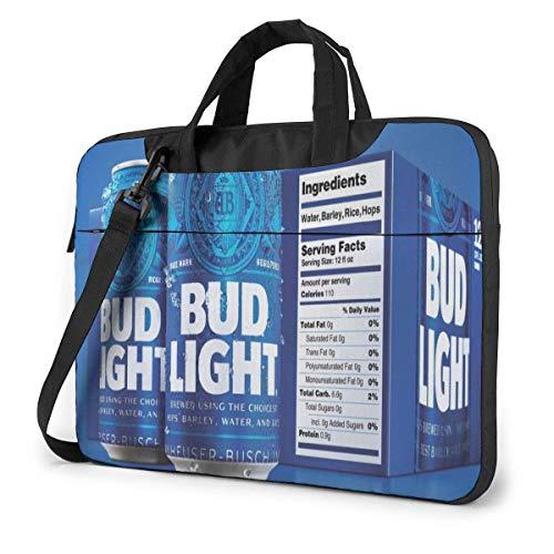 Big Beer Bud Light 15.6 14 13in Elegante maletín de Negocios Personalizado Paquete de computadora Estuche para computadora portátil Bolso de Hombro portátil