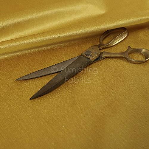 Möbelstoff, gelb, einfarbig, glatt, weich, glänzend, für Sofa-Vorhänge, Polsterstoff, 1 Meter, Textil, gelb, Per Metre