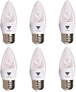 TriGlow T95544-6 (6-Pack) 5-Watt (40W Equivalent) LED Candelabra Bulb, DIMMABLE 3000K (Soft White Color) 325 Lumen E26 Medium Base Light Bulb, UL Listed, Pack of 6 Bulbs