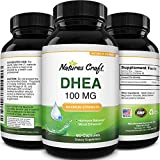 DHEA 100mg Natural Energy Pills - Pure DHEA Supplement Natural Testosterone Booster for Men and Female Hormone Balance Plus Thyroid Support - DHEA Mood and Stress Happy Pills for Mood Support