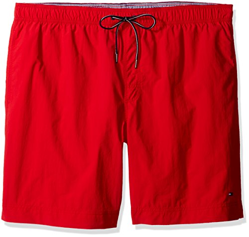 Tommy Hilfiger Men's Big & Tall The Tommy Swim Short, Apple Red, 3XL-Big