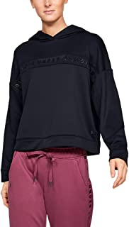 Under Armour Women's Tech Terry Hoodie, Black, Large