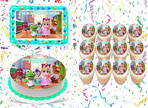 """Muppet Babies Cake Topper Edible Image Personalized Cupcakes Frosting Sugar Sheet (8"""" X 11"""" Cake Topper)"""