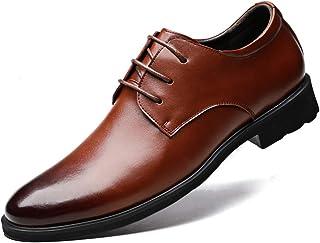 XIGUAFR Chaussure en Cuir d'uniforme Habillée a Lacet Souple Homme Chaussure de Travail Décontractée Antidérapant